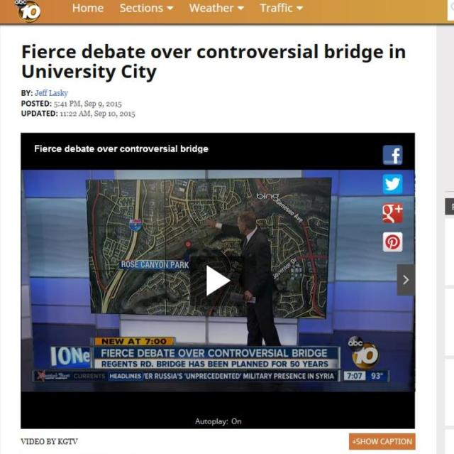 Fierce debate over controversial bridge in University City